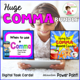 Comma Rules PowerPoint and activities with BOOM Cards