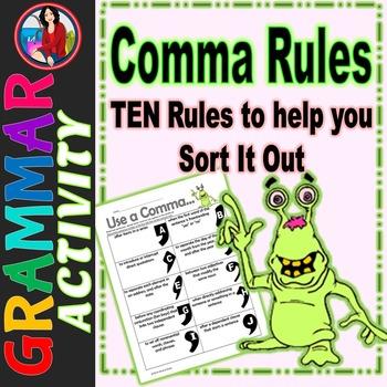 Commas Rules Activity