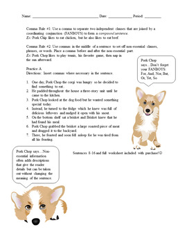 Comma Rules & Corgis #1