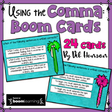 Comma Rules Digital Task Cards: BOOM Cards