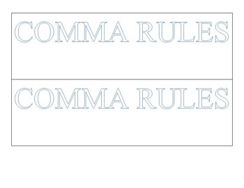 Comma Rules Foldable