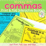 Comma Rules Interactive Notebook - Print & Fold Booklet - Comma Rules Activities