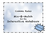 Comma Rules Matching Activity for Interactive Notebooks
