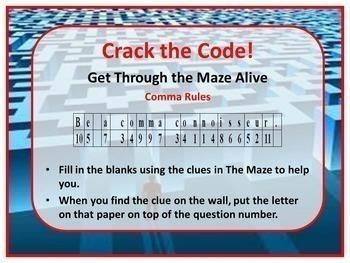 Comma Rules Kinisthetic Maze