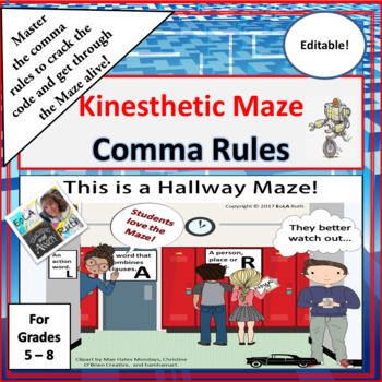 Comma Rules Kinesthetic Maze