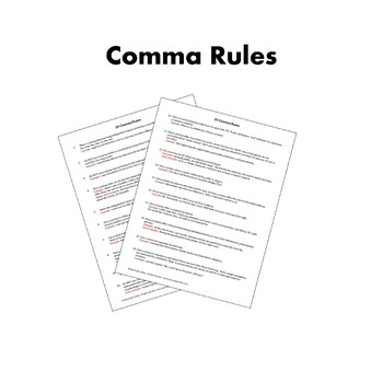 Comma Rules Poster Pack