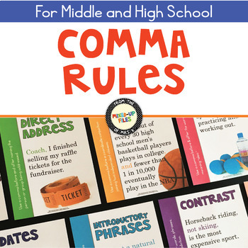 comma rules poster set by mixed up files teachers pay teachers