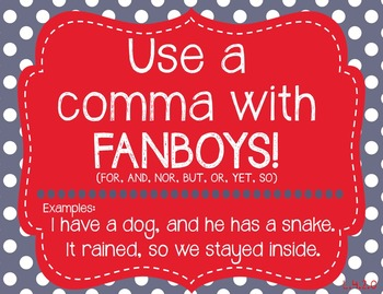 Comma Rules Posters, Color By Code, and Quiz BUNDLE!