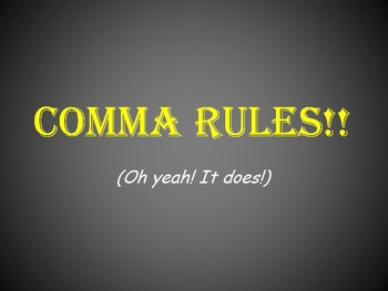 Comma Rules PowerPoint