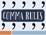 Comma Rules Mini-Lesson PowerPoint