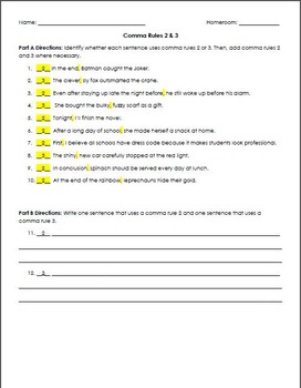 Comma Rules: Reading Comprehension, Grammar, and Punctuation (ACT English  Prep)
