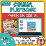 Comma Rules Reference Flip Book plus Google Slides Digital Version