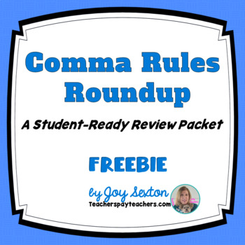Comma Rules Roundup Freebie - ELA Grades 6-9