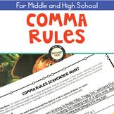 Comma Rules Scavenger Hunt