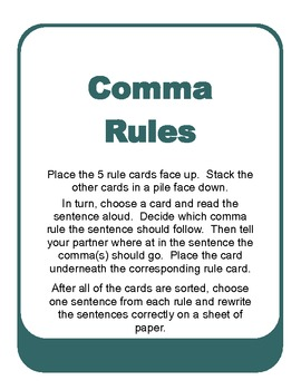 Comma Rules Sort