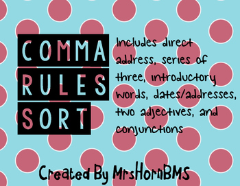 Comma Rules Sort (Review)