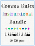 Comma Rules Worksheet Bundle for Daily Practice PLUS Semicolons