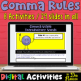 Comma Rules Worksheets: Eight Digital Activities compatible with Google Slides