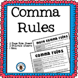 Comma Rules and Practice Worksheet