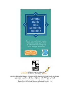 Comma Rules and Sentence Building