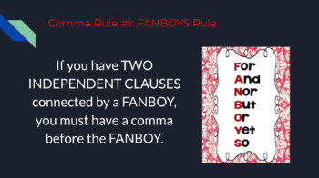Comma Rules to Live By - Everything You Need to Know About Commas in 82 Slides!