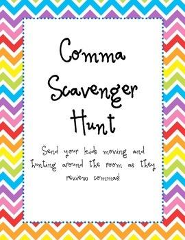 Comma Scavenger Hunt
