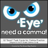 Comma Scoot for Middle Grades: Reviewing & Practicing Commas [5th Grade CCSS]