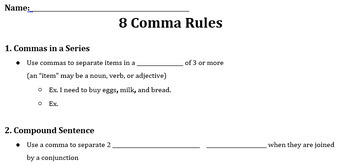 When to use comma and semicolon in a sentence