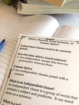 Comma Splice Fused Sentence Run On