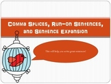 Comma Splices, Run-On Sentences, and Sentence Expansion PowerPoint