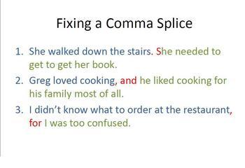 Comma Splices Video