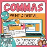 Comma Task Cards for Applying Different Comma Rules Print