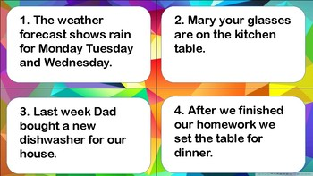 Comma Task Card 4th Grade STAAR Review