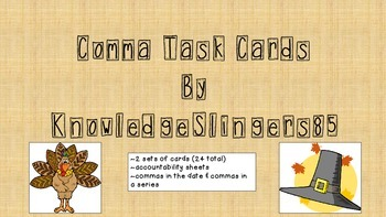 Comma Task Cards for the Primary Grades