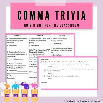 Comma Trivia