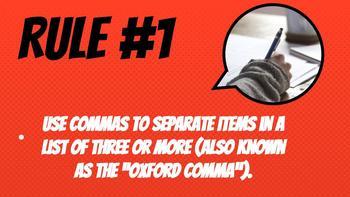 Comma Unit: Focusing on 4 Main Rules