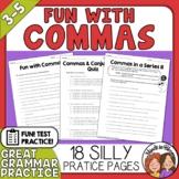 Comma Activities Fun and Humorous Comma Practice Worksheets