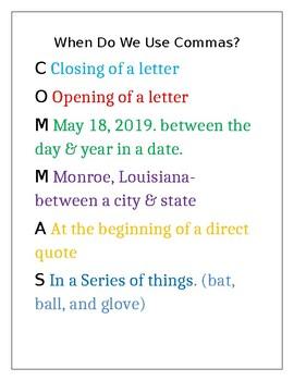 Comma Usage