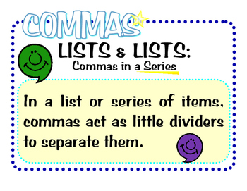 Comma Usage Posters