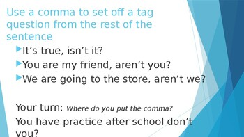 Comma Usage Powerpoint