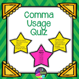Commas - Punctuation Usage Quiz with Answer Key