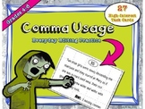 Comma Usage Task Cards, Common Core Aligned. Grades 4-6