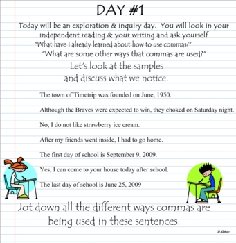 Comma Usage: date, yes/no, and with clauses using Notebook 10