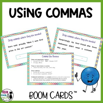 Comma Use Digital Task Cards - Boom Cards