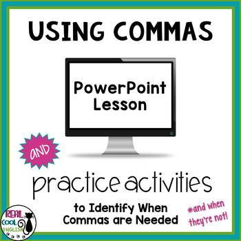 #twosunnydeals Comma Use Presentation and Activities