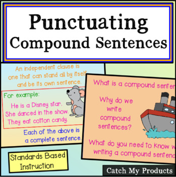 Comma Use for Compound Sentences With Higher Level Questions Promethean Board