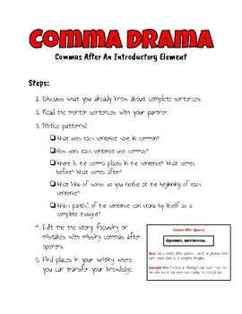 Comma With Introductory Elements Station