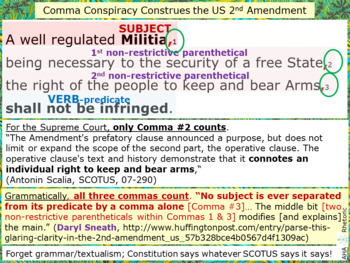 Comma conspiracy clouds and construes the US 2nd Amendment, so SCOTUS…