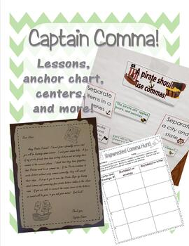 Comma lessons, anchor chart, centers and more
