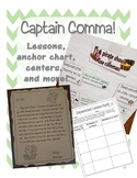 Comma lessons, anchor chart, centers, and more